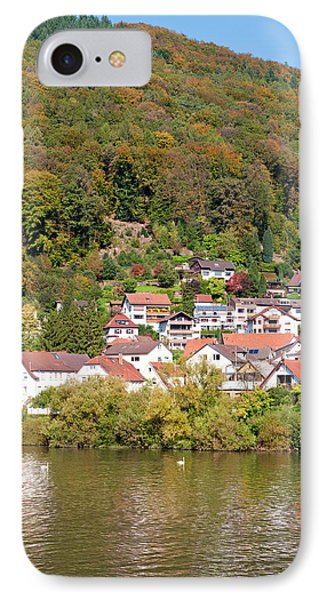 Small Town On The Neckar River, Germany IPhone Case