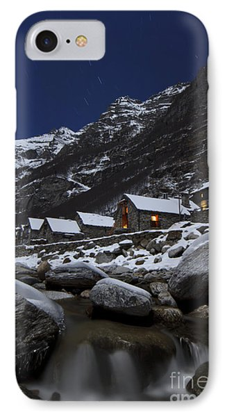 Small Village At Full Moon IPhone Case