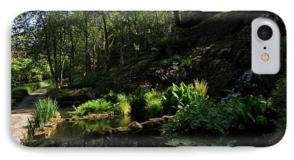 Small Water Garden Below The Waterfall IPhone Case by Panoramic Images
