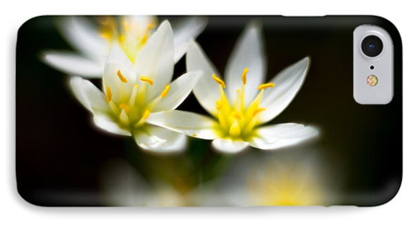IPhone Case featuring the photograph Small White Flowers by Darryl Dalton