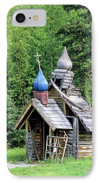Small Wooden Chapel At Saint Nicholas IPhone Case by Angel Wynn