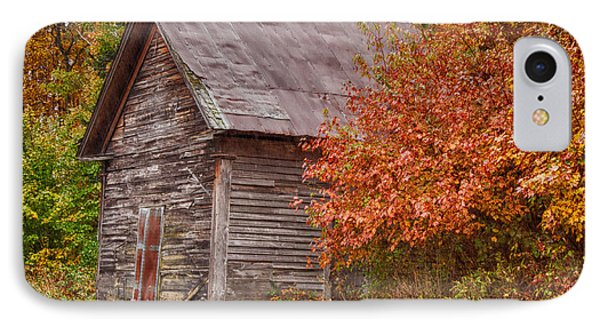 IPhone Case featuring the photograph Small Wooden Shack In The Autumn Colors by Jeff Folger