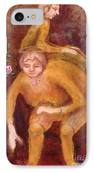 IPhone Case featuring the painting Small Works Of Kindness 2 by Anna Skaradzinska