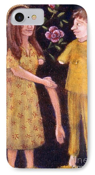 IPhone Case featuring the painting Small Works Of Kindness 3 by Anna Skaradzinska