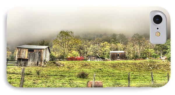 Smalll West Virginia Farm Coming Out Of Clouds Phone Case by Dan Friend