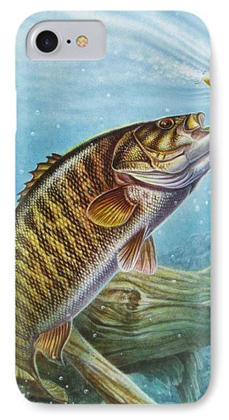 Bass iPhone 7 Case - Smallmouth Bass by JQ Licensing