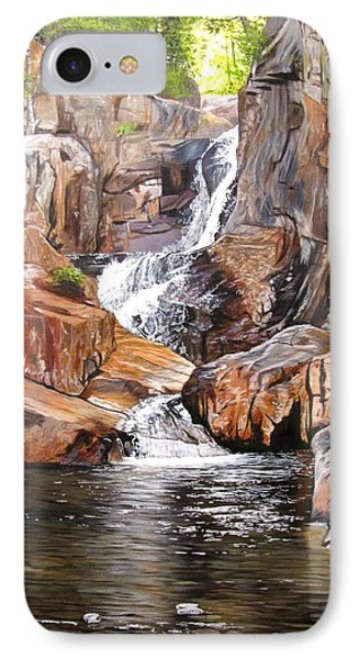 Smalls Falls Maine IPhone Case by Kevin F Heuman