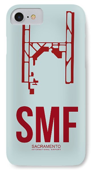 Smf Sacramento Airport Poster 2 IPhone Case by Naxart Studio