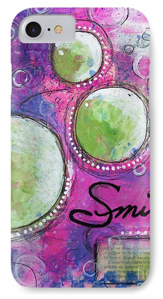 IPhone Case featuring the painting Smile by Melissa Sherbon