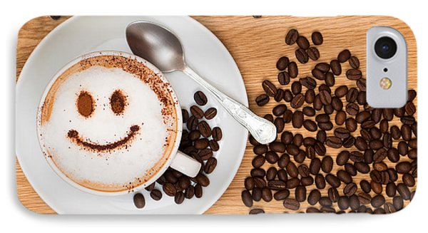 Smiley Face Coffee IPhone Case by Amanda Elwell