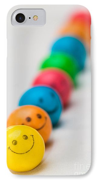 Smiley Face Gum Balls Phone Case by Amy Cicconi