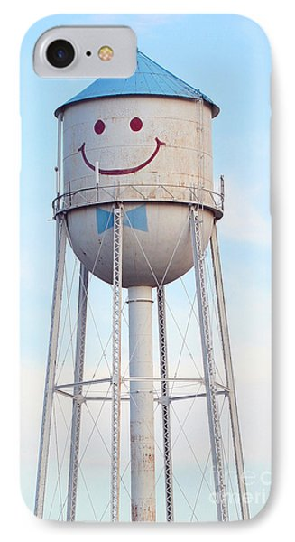 IPhone Case featuring the photograph Smiley The Water Tower by Steve Augustin