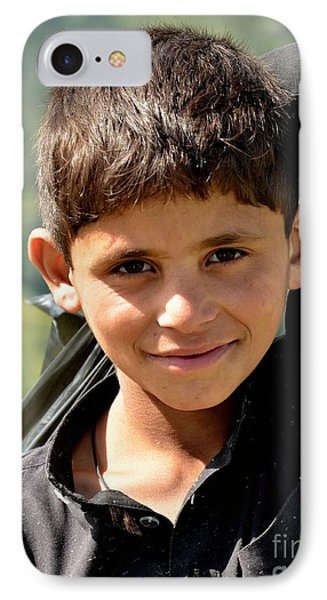 IPhone Case featuring the photograph Smiling Boy In The Swat Valley - Pakistan by Imran Ahmed