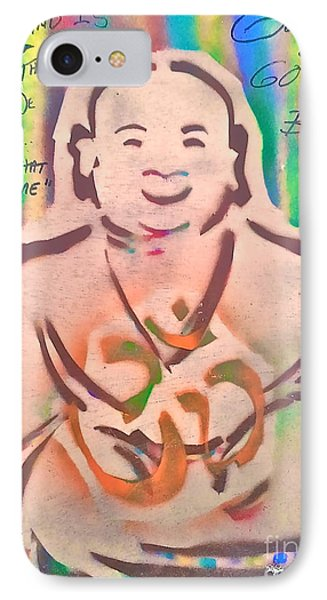 Smiling Brown Buddha  Phone Case by Tony B Conscious
