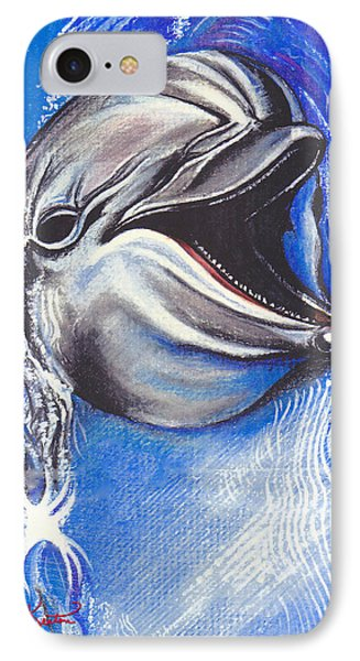 Smiling Dolphin IPhone Case by John Keaton