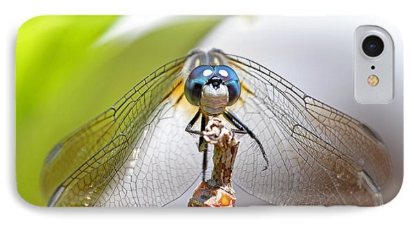 IPhone Case featuring the photograph Smiling Dragonfly Macro by Peggy Collins