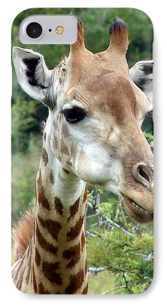 Smiling Giraffe Phone Case by Ramona Johnston