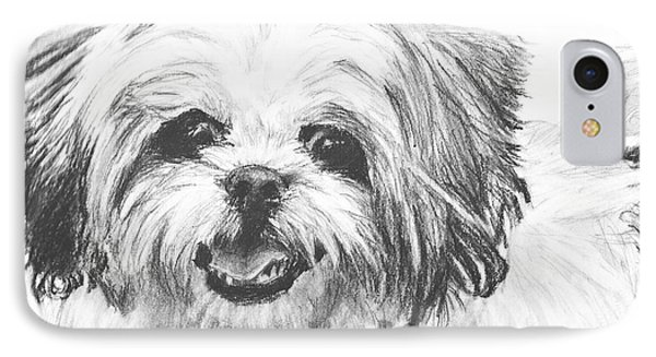 Smiling Shih Tzu IPhone Case by Kate Sumners