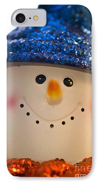 Smiling Snowman IPhone Case by Birgit Tyrrell