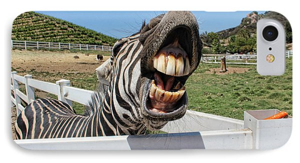 Smiling Zebra IPhone Case