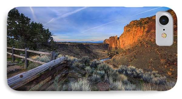 Smith Rock At Sunrise Phone Case by Everet Regal