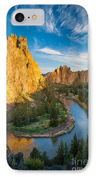 Smith Rock River Bend IPhone Case by Inge Johnsson