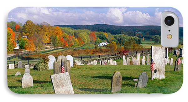 Smithfield Cemetery And Farms IPhone Case by Panoramic Images