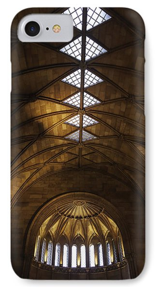 Smithsonian Castle Vaulted Ceiling Phone Case by Lynn Palmer