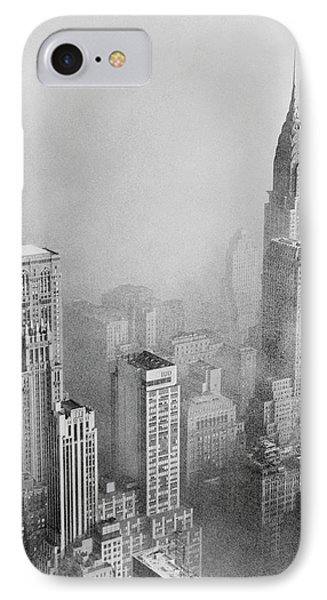 Smog And New York Skyscrapers IPhone Case by Library Of Congress