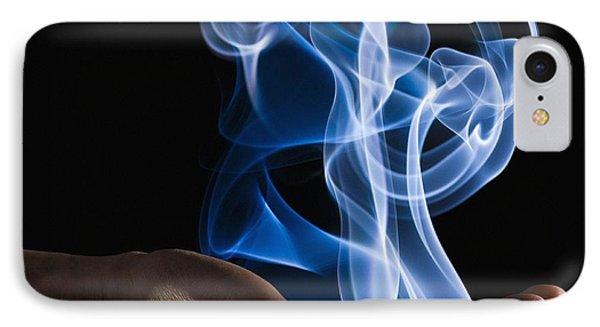 Smoke Wisps From A Hand Phone Case by Corey Hochachka
