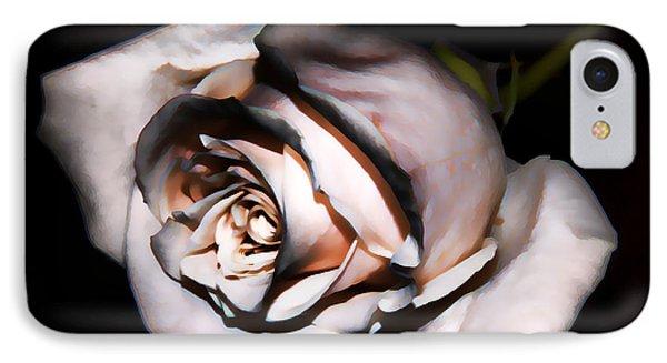 Smoked Rose Phone Case by Mariola Bitner