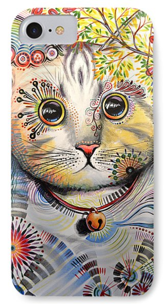 Smokey ... Abstract Cat Art IPhone Case by Amy Giacomelli