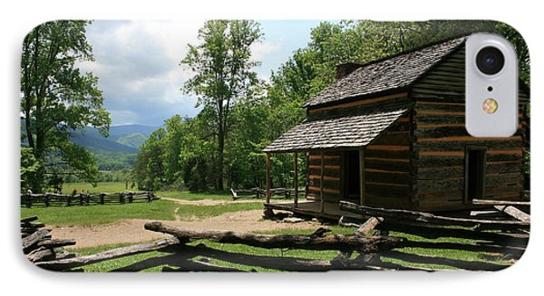 Smoky Mountain Cabin IPhone Case by Marty Fancy