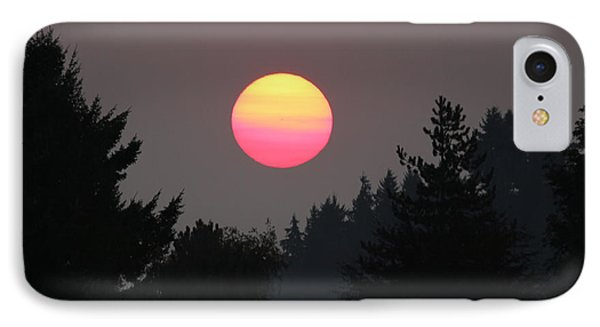 IPhone Case featuring the photograph Smokey Sunrise by E Faithe Lester