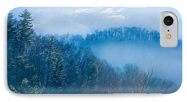 Smokies In Blue IPhone Case by Maria Robinson