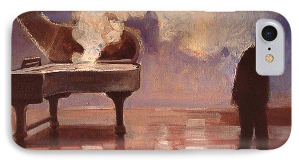 Smokin Piano Phone Case by Emily Gibson