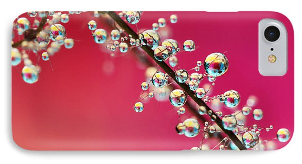 Smoking Pink Drops II IPhone Case by Sharon Johnstone