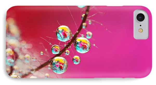 Smoking Pink Drops Phone Case by Sharon Johnstone
