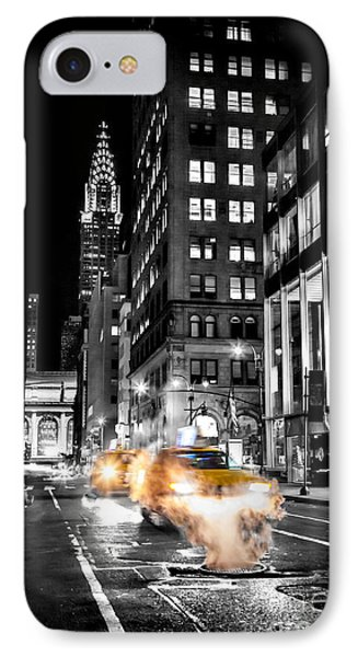Chrysler Building iPhone 7 Case - Smoking Streets Of New York  by Az Jackson