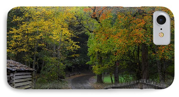 Smoky Mountain Autumn Around The Tipton Place IPhone Case