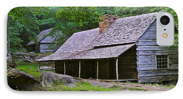 Smoky Mountain Cabins Phone Case by Frozen in Time Fine Art Photography