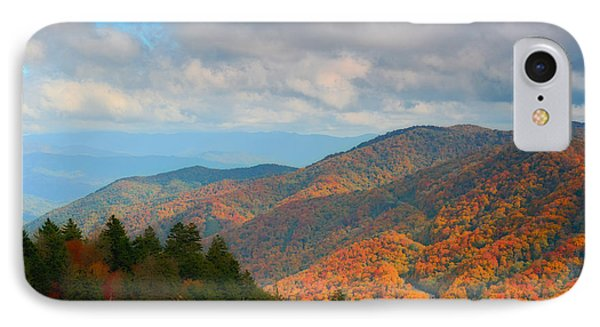 Smoky Mountain Fall Storm Over The Gap IPhone Case