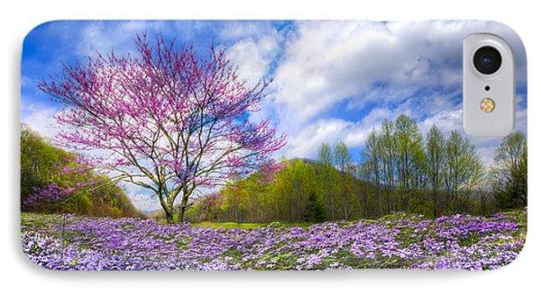 Smoky Mountain Spring Phone Case by Debra and Dave Vanderlaan