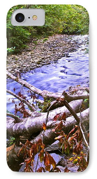 Smoky Mountain Stream Two Phone Case by Frozen in Time Fine Art Photography