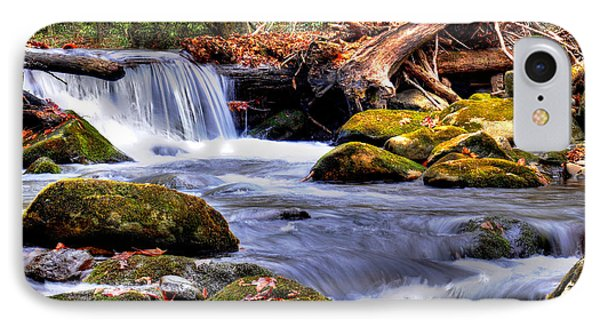 Smoky Mountain Waterfall IPhone Case by Craig T Burgwardt