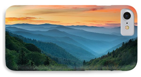Smoky Mountains Sunrise - Great Smoky Mountains National Park IPhone Case by Dave Allen