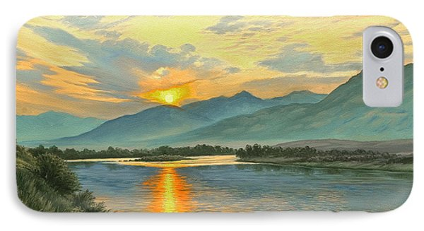 Smoky Sunrise-yellowstone River   Phone Case by Paul Krapf
