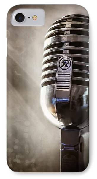 Smoky Vintage Microphone IPhone Case by Scott Norris