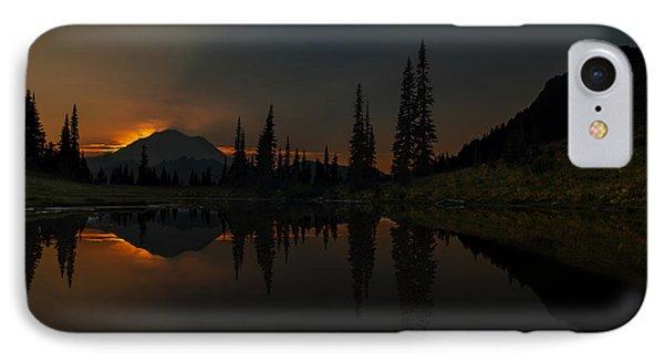 Smoldering Rainier Phone Case by Mike Reid