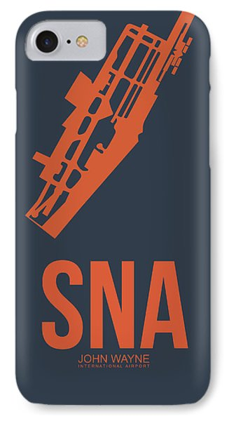 Sna Orange County Airport Poster 1 IPhone Case by Naxart Studio